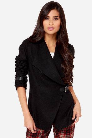 Social Status Black Jacket at Lulus.com!