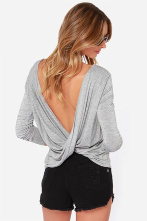 Scoop de Ville Ivory Long Sleeve Top