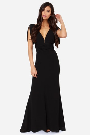 Bariano Corinne Black Maxi Dress