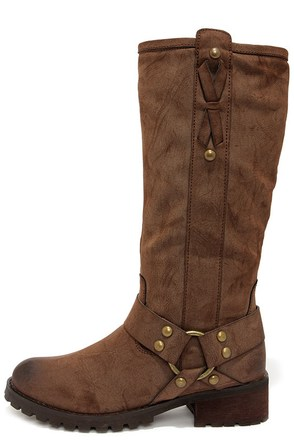 Report Tessah Brown Knee High Boots