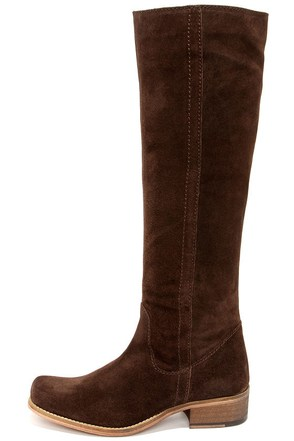Seychelles Secretive Grey Suede Leather Riding Boots at Lulus.com!