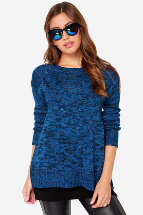 Jack by BB Dakota Herrick Blue Knit Sweater