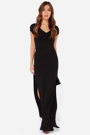 RVCA Dustbowl Black Maxi Dress at Lulus.com!