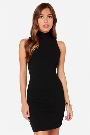 BB Dakota Oleta Black Dress at Lulus.com!