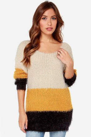 Block Party Color Block Sweater