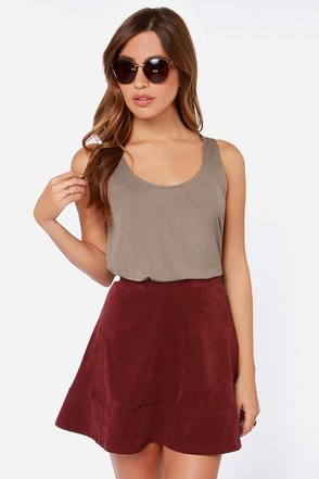 Lucy Love Zen Taupe Crop Top