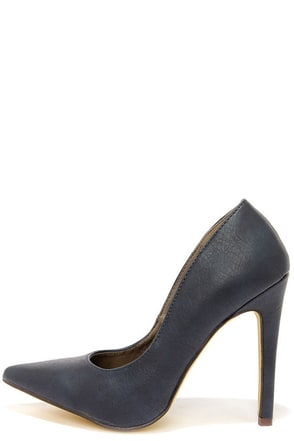 Michael Antonio Lamiss Navy Blue Pointed Pumps