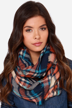 Bench Warmer Red Plaid Infinity Scarf