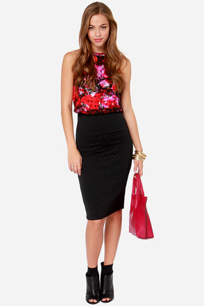 Jack by BB Dakota Blake Quilted Black Skirt
