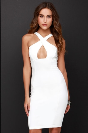 At the Crossroads Ivory Bodycon Dress