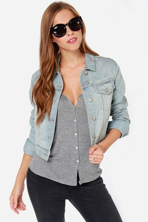 Mink Pink Washed Denim Jacket at Lulus.com!
