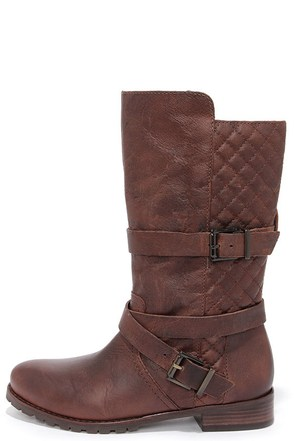 Matisse Rosalie Brown Leather Mid-Calf Boots at Lulus.com!