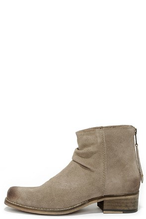Seychelles Challenge Sand Suede Leather Ankle Boots at Lulus.com!