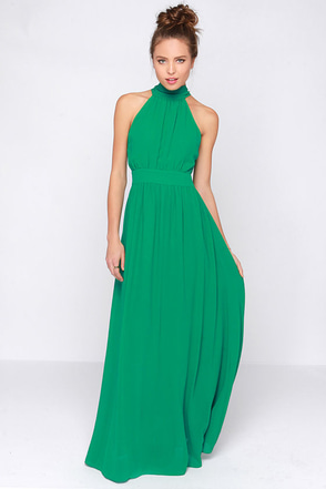 LULUS Exclusive Modern Duchess Green Maxi Dress