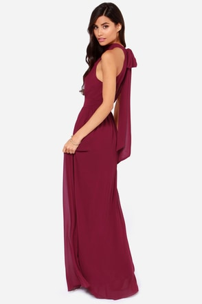 LULUS Exclusive Modern Duchess Burgundy Maxi Dress at Lulus.com!