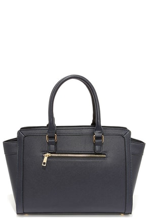 In the Dark of the Night Navy Blue Handbag