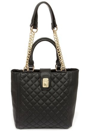 Blind Date Black Quilted Handbag