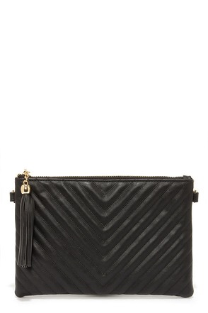 Fun Night Black Clutch at Lulus.com!