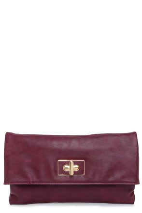Grand Openings Burgundy Clutch