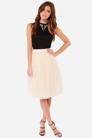 All in Good Cheer Peach Tulle Skirt at Lulus.com!