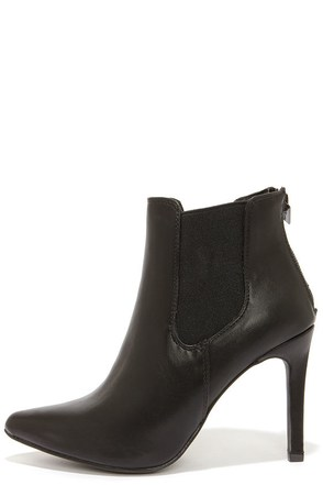 Virtuous Black Pointed Toe Booties