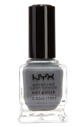 NYX Advanced Salon Formula Grey Nail Polish