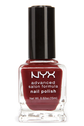 NYX Advanced Salon Formula Wine Red Nail Polish