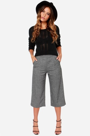 A Lot to Learn Grey Culottes at Lulus.com!