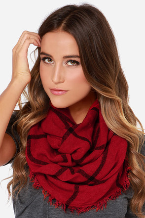 Ivy League Red Plaid Infinity Scarf at Lulus.com!