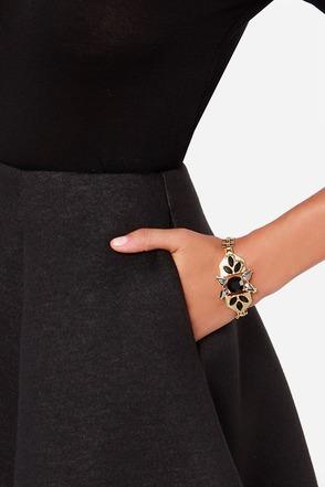 Ice Ice Lady Black Rhinestone Bracelet