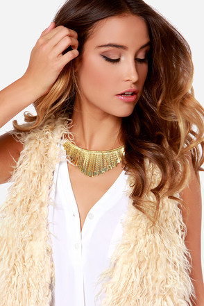 Zad In the Inca an Eye Gold Collar Necklace
