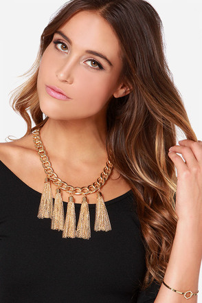 Five Star Shining Gold Chain Necklace