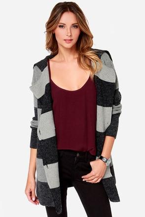 Head to Tonal Grey Striped Sweater Jacket at Lulus.com!