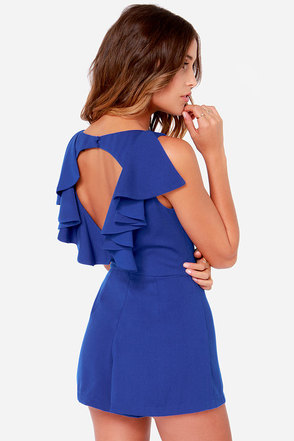 Ready for Action Royal Blue Romper at Lulus.com!