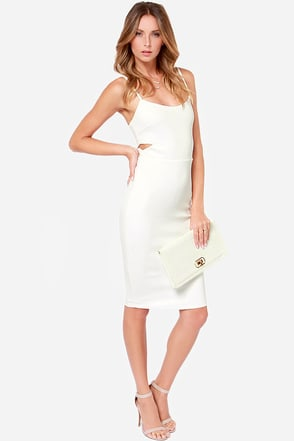 Wilde Heart Midnight Hour Ivory Midi Dress at Lulus.com!