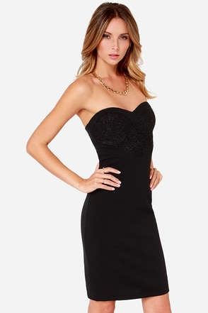 Take Notice Black Bodycon Dress at Lulus.com!