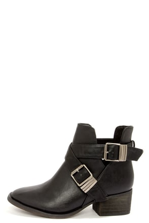 Bronco 11 Black Cutout Ankle Boots at Lulus.com!