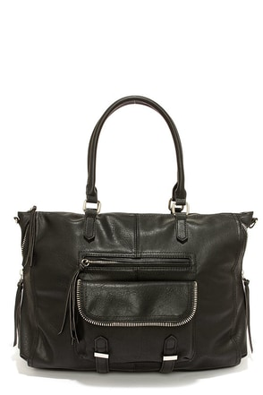 Steve Madden Broyale Black Handbag at Lulus.com!