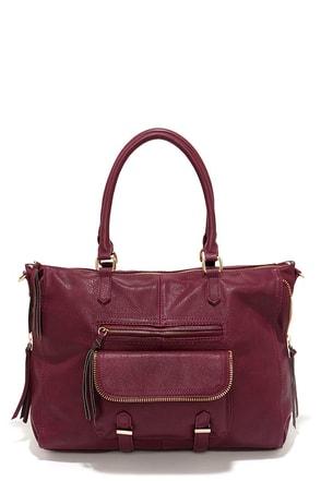 Steve Madden Broyale Burgundy Handbag at Lulus.com!