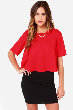 La Bamba Red Crop Top at Lulus.com!