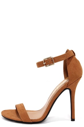 LULUS Elsi Bone Single Strap Heels at Lulus.com!