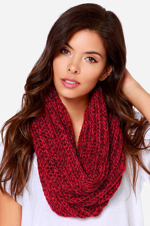 Popular on YouTube Red Infinity Scarf at Lulus.com!