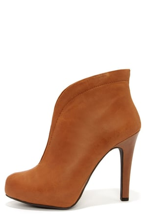 Jessica Simpson Allest Burnt Umber Leather High Back Booties at Lulus.com!