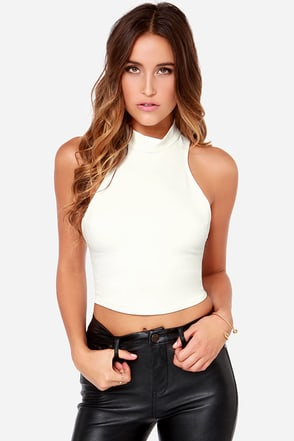 That Bass Navy Blue Crop Top at Lulus.com!