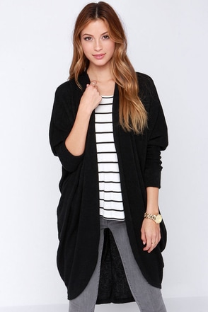 Laissez Faire Black Cardigan Sweater at Lulus.com!