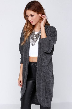 Laissez Faire Grey Cardigan Sweater at Lulus.com!