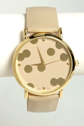 It's A-Dot Time Taupe Watch