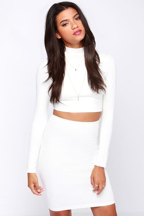 Spell Chic Black Pencil Skirt at Lulus.com!