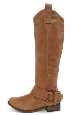Rider 16 Tan Belted Riding Boots