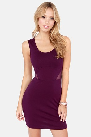 Jack by BB Dakota Thora Cutout Purple Dress